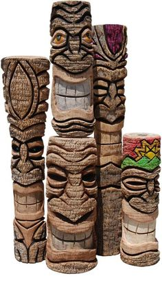 Image detail for -Tiki-Living.com Tiki Totem Statues Hand Carved Wooden Poles