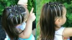 Children and Young Little Girl Hairdos, Girls Hairdos, Lil Girl Hairstyles, Princess Hairstyles, Girls Braids, Toddler Hair Dos, Easy Toddler Hairstyles, Hair Makeup, Hair Beauty