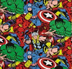 Tecido importado Heróis Marvel