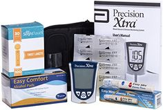 Precision Ketone Diabetes Testing Kit - Precision Xtra Meter 10 Precision Ketone Test Strips, 100 Lancets 30g, Lancing Device and 100 Alcohol Pads *** More info could be found at the image url.