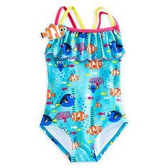 """Nieuw binnen ! Schattig badpakje (met lief badmutsje) geinspireerd op de nieuwe Disney film:  Finding Dory ! """"Just keep swimming, just keep swimming ! """""""