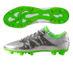 The Chrome finish of the Adidas X 15.1 Eskolaite soccer cleats will catch the eye of the defense as you burn past them. Order your new Adidas soccer cleats today at SoccerCorner.com  http://www.soccercorner.com/Adidas-X-15-1-Eskolaite-FG-AG-Soccer-Cleats-p/sm-ads31697.htm