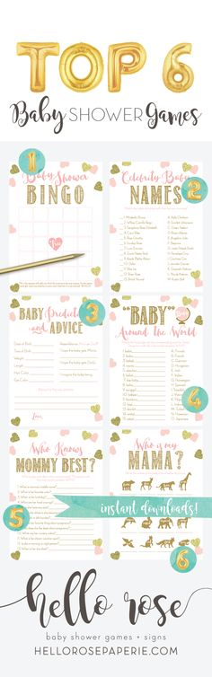 Fabulous image within 75 printable baby shower games with answers