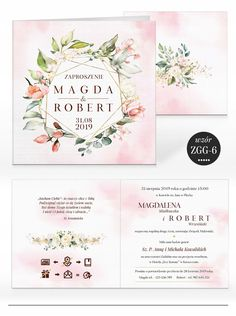 Zaproszenia ślubne RUSTYKALNE KWIATY + KOPERTA 7584587654 - Allegro.pl Handmade Invitations, Weddingideas, Place Cards, Wedding Inspiration, Place Card Holders, Homemade Invitations, Handmade Invitation Cards