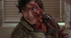 """An American Werewolf in London -Camera begins to pull back slowly, straight up - the song """"Moon Shadow"""" by Cat Stevens begins. Once we are high enough to see the entire moon, the main title is superimposed - Full film script (dailyscript.com, 2012)"""