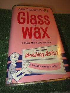 Vintage Gold Seal New Improved Glass Wax 1 pint can Now with Vanishing Action kitschy Christmas Is Over, Christmas Time, Vintage Advertisements, Vintage Ads, Glass Wax, Vintage Laundry, I Remember When, Holly Leaf, Oldies But Goodies