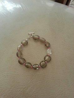 Grey, silver and pink bracelet