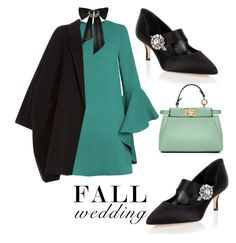 """Fall Wedding'"" by dianefantasy ❤ liked on Polyvore featuring Fendi, Helmut Lang, Manolo Blahnik, Oscar de la Renta, polyvorecommunity, polyvoreeditorial and fallwedding"