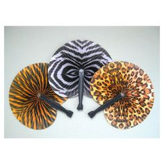 Jungle Party Supply Safari Party Favor African Party Decor Party Fan Favor Hand Fan Decor Folding Fan Decoration Animal Print Tiger Leopard ($5.95) found on Polyvore