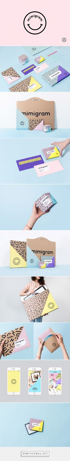 Mimigram Mobile Printing App Branding by Nika Levitskaya | Fivestar Branding Agency – Design and Branding Agency & Curated Inspiration Gallery  #branding #brand #packaging #packagingdesign #design #designinspiration