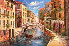 Terrace Cafe in Venice Venice Painting, Boat Painting, Oil Painting For Sale, Paintings For Sale, Oil Paintings, Venice Boat, Mediterranean Sea, Art Oil, Worlds Largest