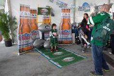 Coors Light created a football-theme photo op display at the family-friendly tailgate-theme event.