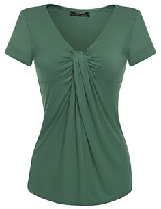Find Zeagoo Women V Neck Twist Knot Front Casual Blouse Top online. Shop the latest collection of Zeagoo Women V Neck Twist Knot Front Casual Blouse Top from the popular stores - all in one Fashion 2020, Casual Tops, Clothing Patterns, Ideias Fashion, Chiffon, Short Sleeve Dresses, Short Sleeves, Tunic Tops, V Neck