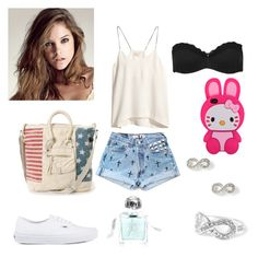 """barbara palvin(2)"" by malena-336 ❤ liked on Polyvore featuring H&M, Vans, Hello Kitty, Caia and Aromachology"