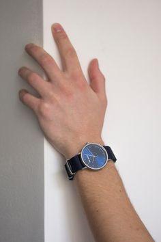 Boho blue watch with textile strap. Metallica, Watches For Men, Unisex, Boho, Retro, Casual, Fashion, Moda, Men's Watches