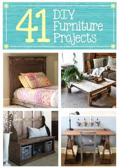 luv the kids beds and the entry way pieces! 41 DIY Furniture Projects