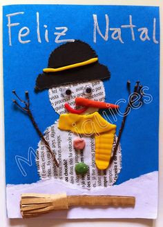 Mauriquices: Boneco de Neve letrado!!!