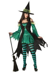 Halloween Damen Kostüm Emerald Witch - Artikelnummer: 497840000 - ab 59.99EURO - bei HORRORKLINIK.de!