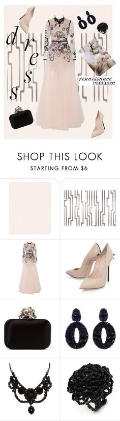 """Renaissance Romance"" by scope-stilettos ❤ liked on Polyvore featuring Graham & Brown, York Wallcoverings, Elie Saab, Casadei, Jimmy Choo, Oscar de la Renta and Gucci"