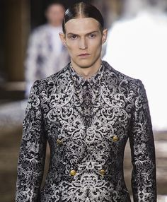 Adrian Bosch at Alexander McQueen Menswear SS14 -[Would love to have something like this. Not sure where I'd wear it though - TL]