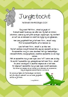 Jungletocht bij het boek Krrrr...okodil. Nationale Voorleesdagen 2014. Elke dag een leuke opdracht. Jufanke.nl Jungle Party, Safari Party, Jungle Safari, Jungle Theme, The Jungle Book, Welcome To The Jungle, Mindfulness For Kids, Preschool Books, School Themes