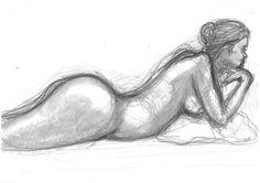 girl on pillow bw