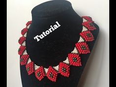 Peyote and brick Stitch necklace - YouTube
