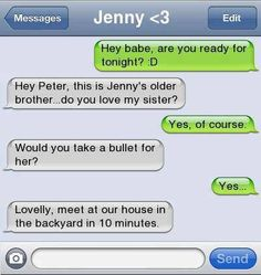 Like all of my guy friends would do this lol Funny Texts Jokes, Text Jokes, Funny Text Fails, Cute Texts, Stupid Funny Memes, Funny Laugh, Funny Relatable Memes, Epic Texts, Very Funny Texts