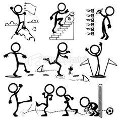 Stickfigure Goal Royalty Free Stock Vector Art Illustration