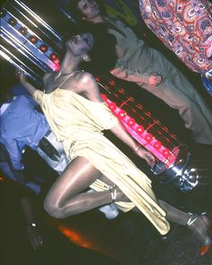 Acclaimed drag queen, Potassa wearing Stephen Burrows at Studio 54, 1977