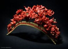 Coral Tiara by Platimiro Fiorenza from Trapani, Sicily #millinery #judithm #hats