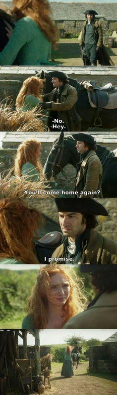 """Will you come home again?"" - Ross & Demelza #Poldark"