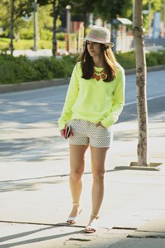 A Gap sweater and shorts as featured on the blog Pretty in Polkadot.