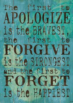 happy people forgive
