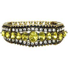 Stone Embellished Bracelet ($48) via Polyvore