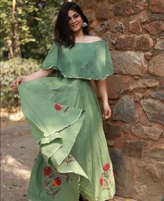 Image may contain: one or more people and people standing Western Dresses, Indian Dresses, Indian Outfits, Western Gown, Cute Dresses, Casual Dresses, Fashion Dresses, Neckline Designs, Blouse Designs
