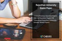 Delhi University Previous Year Question Paper  DU Sample  Model     Rajasthan University Guess Paper 2018 Uniraj Previous Year Question Papers