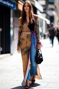 Long kimono summer outfit ideas 49