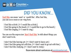 English Grammar - Do you 'feel like' learning more about grammar?