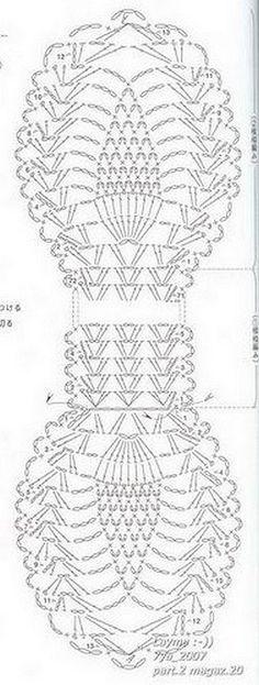 Écharpe crochet fait avec haut-relief .. avec quelques différences! Mont...