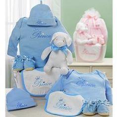 Baby Boy or Girl's Royal Welcome Gift Basket