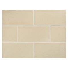 "Complete Tile Collection Vermeere Ceramic Tile - Oatmeal - Gloss, 3"" x 6"" Manhattan Ceramic Subway Tile, MI#: 199-C1-311-801, Color: Oatmeal"