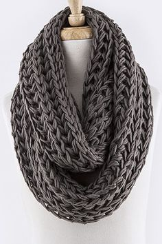 Earth Tone Cozy Knit Scarf-this would match a lot of outfits!