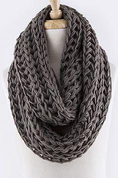 Earth Tone Cozy Knit Scarf