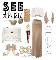 """It's All Clear Now"" by msmkt86 on Polyvore featuring LE3NO, Hermès, Christian Louboutin, Casetify, Michael Kors, Tory Burch and BERRICLE"