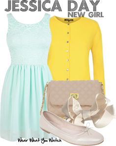 Inspired by Zooey Deschanel as Jessica Day on New Girl - Shopping info!