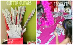 Rock Star Party Place: Rockstar Party Crafts: Glitter Guitars