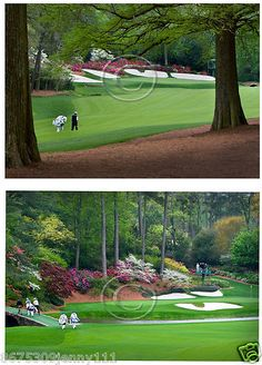 Augusta Golf Course Amen Corner Set of 2 Images Pictures Ready to Frame