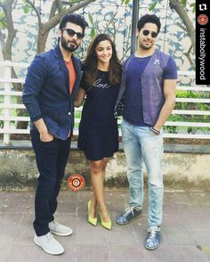 #Repost @instabollywood Fawad Khan Sidharth Malhotra and Alia Bhatt pose during…