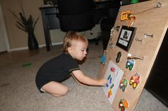 Literacy Activities/Math Activities/Motor Skills:  Toddler Activity Board